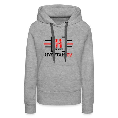 HypedUpTV - Black/Red - Women's Premium Hoodie