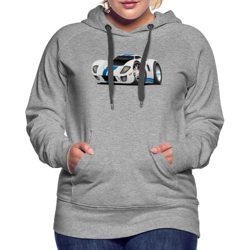 American Supercar Cartoon - Women's Premium Hoodie