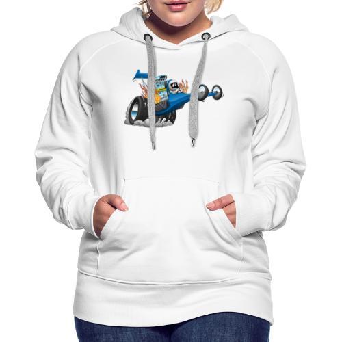 Top Fuel Dragster Cartoon - Women's Premium Hoodie