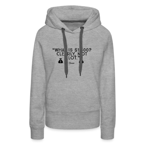 Clearly, Not a lot. (Black) - Women's Premium Hoodie