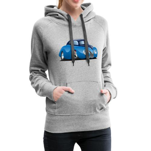 Classic 39 Street Rod Coupe Custom Car Cartoon - Women's Premium Hoodie