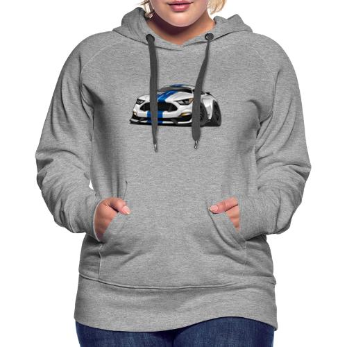 Modern American Muscle Car Cartoon - Women's Premium Hoodie