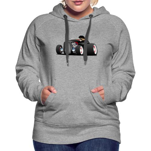 Classic Street Rod Hi Boy Roadster Cartoon - Women's Premium Hoodie