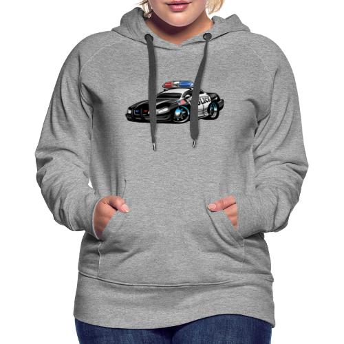 Police Muscle Car Cartoon - Women's Premium Hoodie