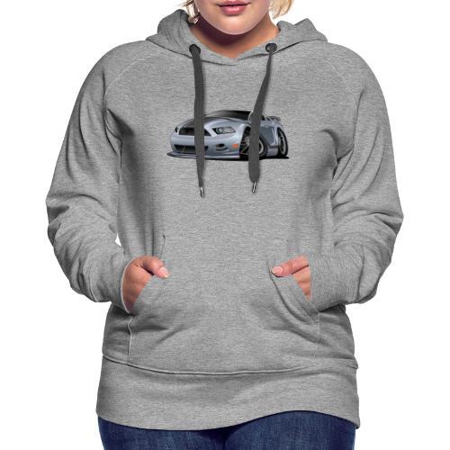 Modern American Muscle Car Cartoon Vector - Women's Premium Hoodie