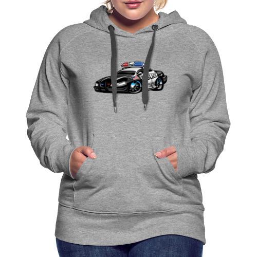 Police Muscle Car Cartoon - Women's Premium Hoodie