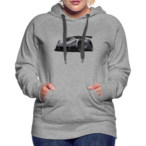 Modern American Sports Car Cartoon - Women's Premium Hoodie