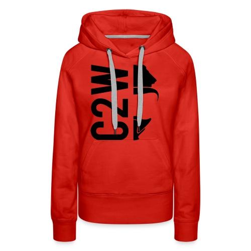 C2W Split Logo - Black - Premium Tee - Women's Premium Hoodie