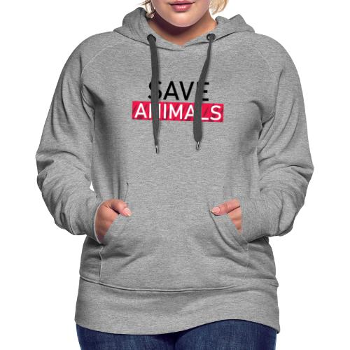 SAVE ANIMALS - Women's Premium Hoodie