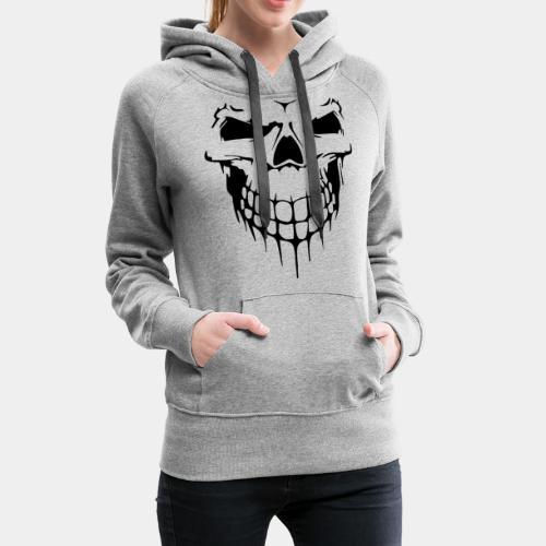 skull rock metal face - Women's Premium Hoodie