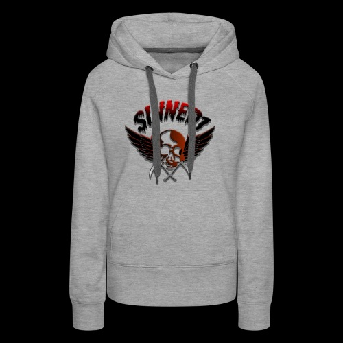 Sinned1 Dripping Text - Women's Premium Hoodie