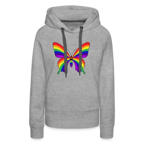 Rainbow Butterfly - Women's Premium Hoodie