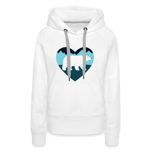 Polar Bear Love - Women's Premium Hoodie