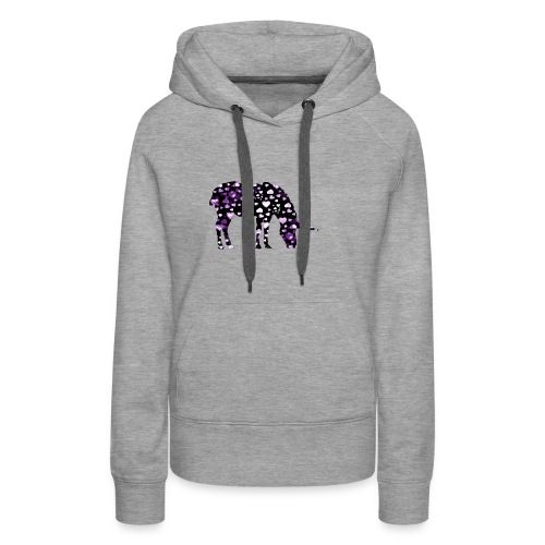 Unicorn Hearts purple - Women's Premium Hoodie