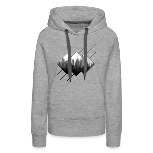 BLACK AND WHITE CITY - Women's Premium Hoodie