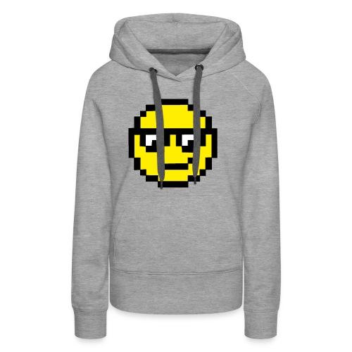 Pixel Smiley Yellow - Women's Premium Hoodie