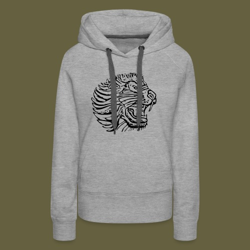 Cent Lion Head Black - Women's Premium Hoodie
