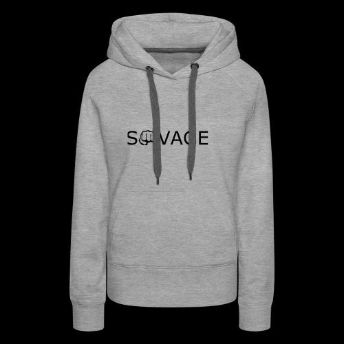 savage black design - Women's Premium Hoodie
