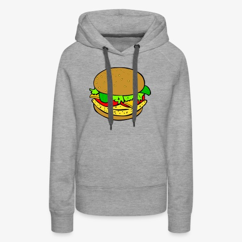 Comic Burger - Women's Premium Hoodie