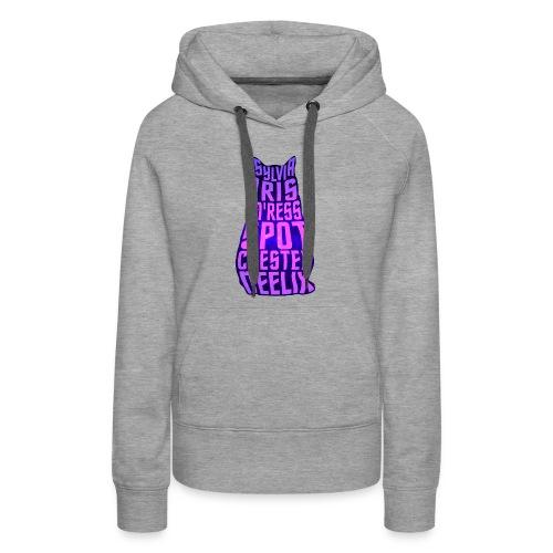 Trek Cats (pink and purple letters) - Women's Premium Hoodie
