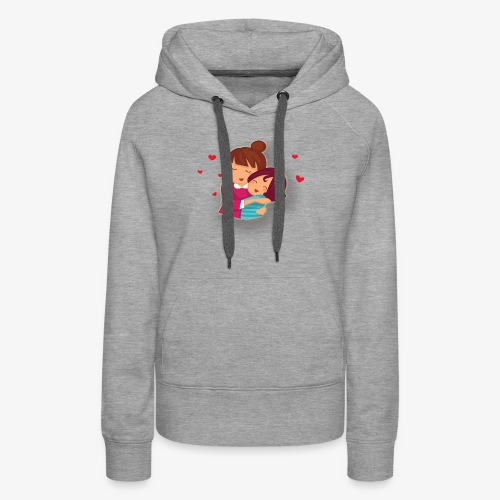 lovely mother ,mom day - Women's Premium Hoodie