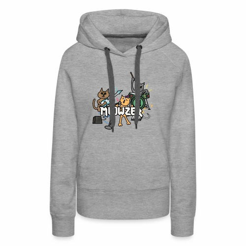 Meowzer! Funny Cute Cat Kitty Band, Adorable Silly - Women's Premium Hoodie