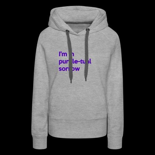 Purple-tual sorrow - Women's Premium Hoodie