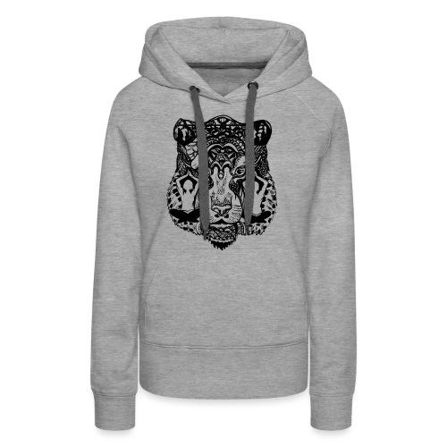 Tiger Yoga face - Women's Premium Hoodie