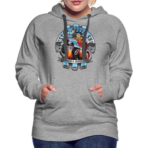 Custom Speed Shop Hot Rods and Muscle Cars Illustr - Women's Premium Hoodie