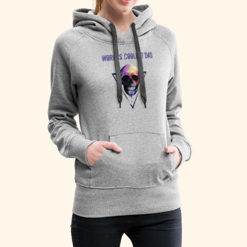 Worlds coolest dad skull Tee T shirt - Women's Premium Hoodie