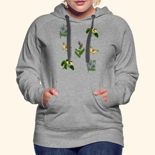 vintage bloom Botanical Design - Women's Premium Hoodie