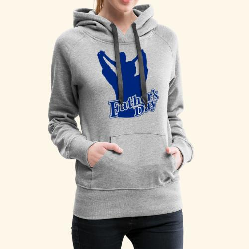 Fathers Day Child And Father Design - Women's Premium Hoodie