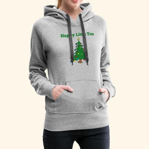 Christmas Tree HAPPY TREE TEE - Women's Premium Hoodie