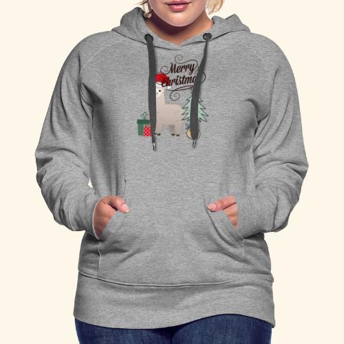 Christmas Lama - Women's Premium Hoodie