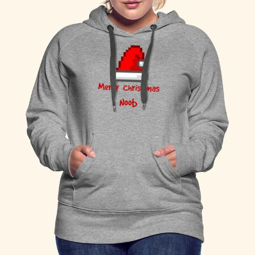 Gamer Merry Christmas Noob Santa Hate - Women's Premium Hoodie