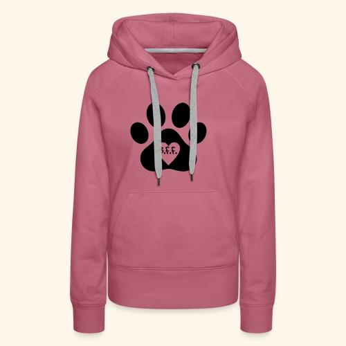 Dog Paw B.F.F. Design - Women's Premium Hoodie