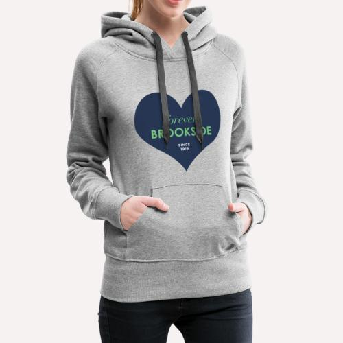 Forever Brookside Navy with Mint - Women's Premium Hoodie