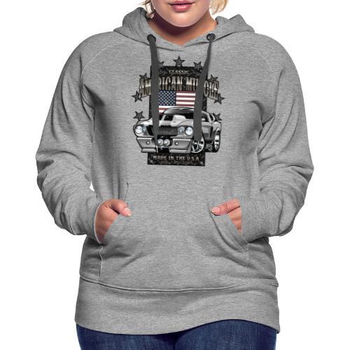 Classic American Muscle Car - Women's Premium Hoodie