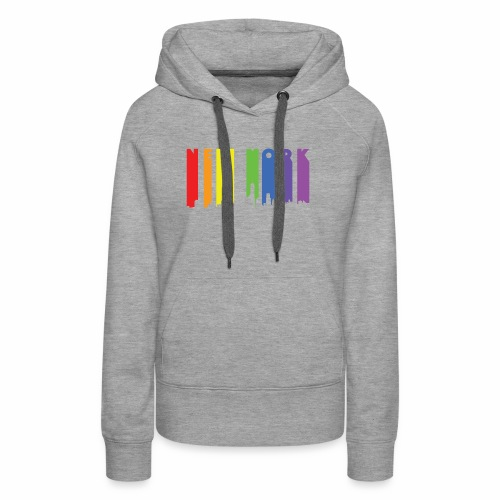 New York design Rainbow - Women's Premium Hoodie