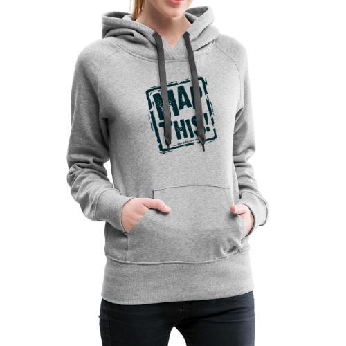 MapThis! Black Stamp Logo - Women's Premium Hoodie