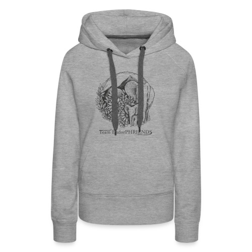 black with white bg3 - Women's Premium Hoodie