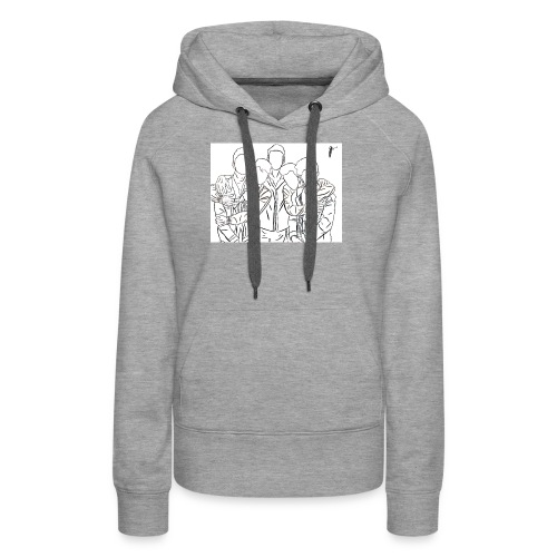 Why Dont We Outline In White - Women's Premium Hoodie