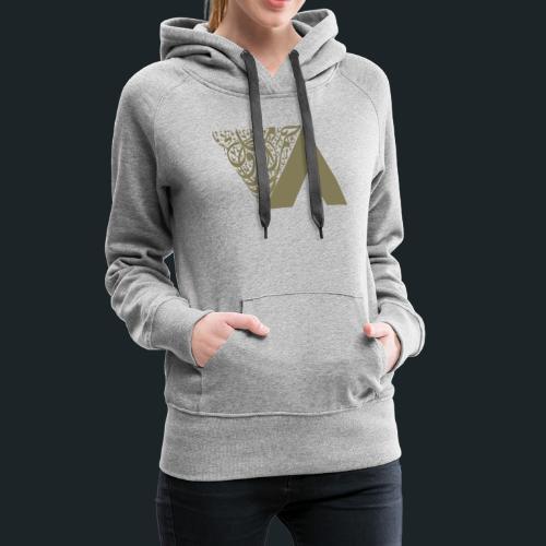 Ahmed Romel Gold Calli Full - Women's Premium Hoodie