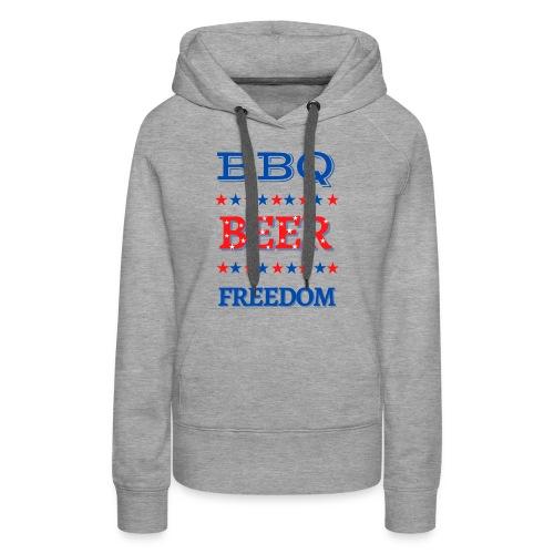 BBQ BEER FREEDOM - Women's Premium Hoodie
