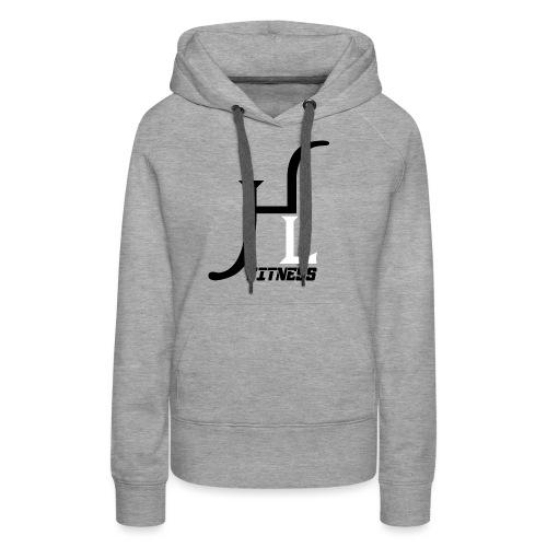 HIIT Life Fitness logo white - Women's Premium Hoodie