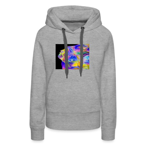 Abstract Contrast Hoodie - Women's Premium Hoodie