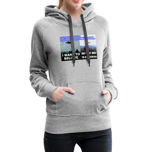 tshirt i want to believe - Women's Premium Hoodie