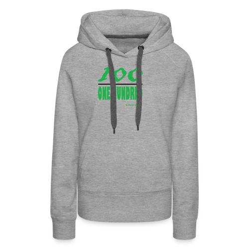 ONE HUNDRED GREEN - Women's Premium Hoodie
