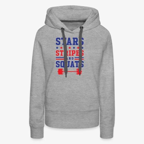 Stars, Stripes And Squats - Women's Premium Hoodie