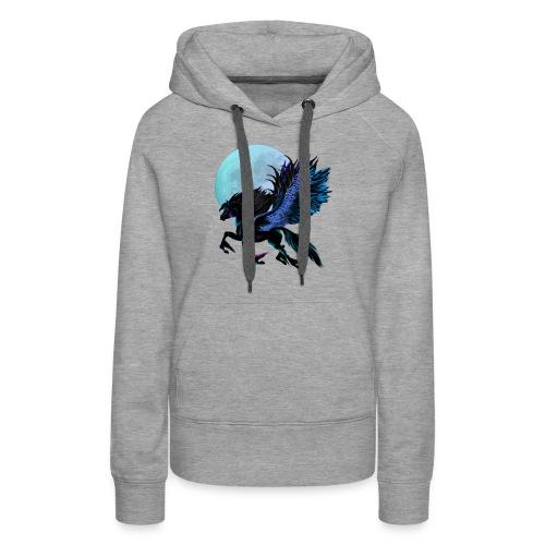 Black Pegasus and Blue Moon - Women's Premium Hoodie